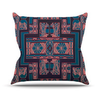 KESS InHouse Golden Art Deco Throw Pillow