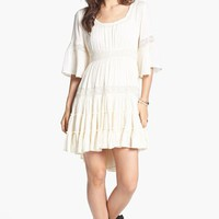 Free People 'Dream Cloud' Lace Trim High/Low Dress | Nordstrom