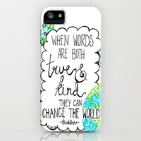 Change the World iPhone & iPod Case by Kayla Gordon