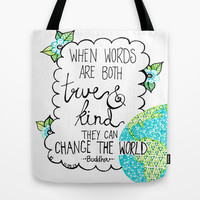 Change the World Tote Bag by Kayla Gordon