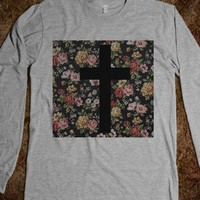 Black Floral Cross