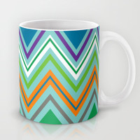 Beach Party Chevron Mug by Shawn Terry King