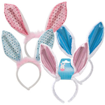 Bulk easter bunny ears headbands 11 at from for Black headbands dollar tree