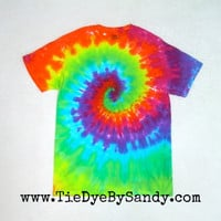 CLEARANCE: Small Rainbow Spiral Tie Dye Shirt