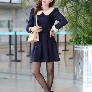 Peter Pan Polka Dot Dress(N1118)