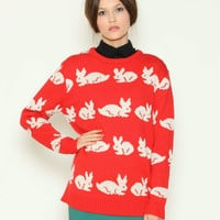 Red Bunny Sweater