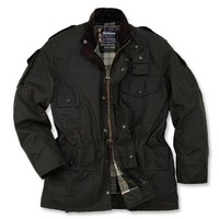 Men's Waxed Cotton Jacket / Barbour® Cowen Commando Jacket -- Orvis