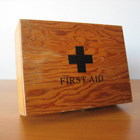 Vintage First Aid Box - Industrial Decor