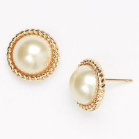 kate spade new york 'seaport' faux pearl studs | Nordstrom
