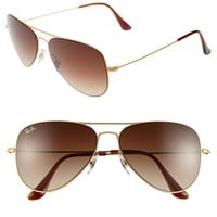 Ray-Ban 58mm Steel Aviator