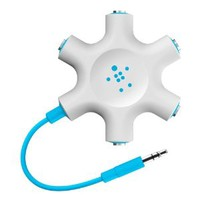 Belkin F8Z274btBLU Rockstar Multi Headphone Splitter (Blue)