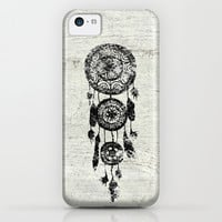 Hipster Lace black dreamcatcher on white wood iPhone & iPod Case by Girly Trend