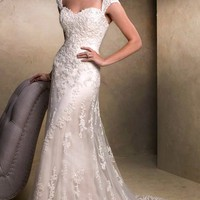 RW018 Designer Cap Sleeve Mermaid Lace Wedding Dress 2013 - Sell Wedding Dress 2013 on Made-in-China.com