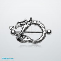 Fierce Dragon Loop Nipple Shield Ring