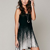 Free People Womens Ombre Foil Dress - Ivory, L