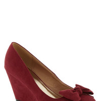 Party Hostess Wedge in Wine | Mod Retro Vintage Heels | ModCloth.com