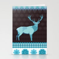 Winter Deer Stationery Cards by Ornaart