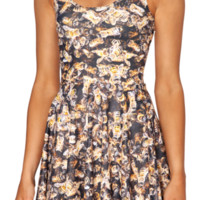 Bee Reversible Skater Dress | Black Milk Clothing