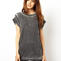 ASOS Boyfriend T-Shirt in Burn Out