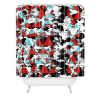 Caleb Troy Two Strip Geo Shower Curtain