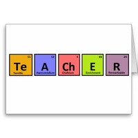 Periodic Table Teacher Appreciation Card