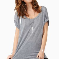 New Boyfriend Tee - Heather Gray