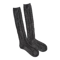 AEO CABLE SHINE KNEE SOCK