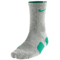 Nike Elite Crew Socks Grey Heather Atomic Teal | Lacrosse Unlimited