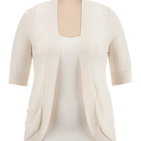 elbow sleeve cocoon cardiwrap sweater