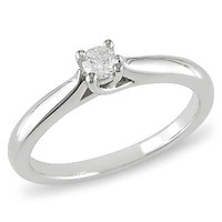 1/6 CT. Diamond Solitaire Promise Ring in Sterling Silver