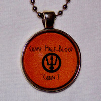 Camp Half-Blood Necklace. Poseidon Cabin, Percy Jackson Inspired. 18 Inch Ball Chain.