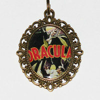 Dracula Horror Movie Vampire Pendant Necklace