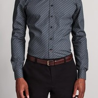 Brick Poplin Dress Shirt