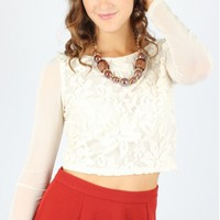Lovely In Lace Crop Top