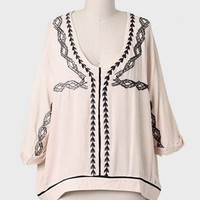 Clear Your Mind Embroidered Blouse