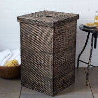 Modern Weave Hamper - Blackwash