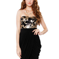 FEMME SPANGLE CUTOUT DRESS