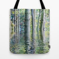SERENE GREEN SCENE Tote Bag by catspaws