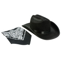 Child Cowboy Hat With Black Bandanna