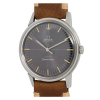 Omega Stainless Steel Seamaster Wristwatch Retailed by Meister circa 1960s