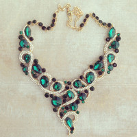 EMERALD SAHARA STATEMENT NECKLACE