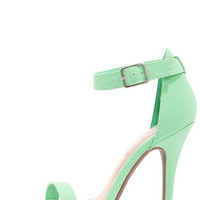 Anne Michelle Enzo 01 Mint Single Strap Heels
