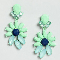 Join In Matte-rimony Mint Rhinestone Earrings