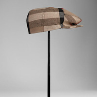 Cotton Check Flat Cap
