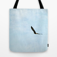 Wings of Eagles Tote Bag by RDelean