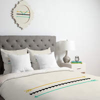 Allyson Johnson Minimal Arrows Duvet Cover