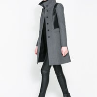 COMBINED WOOL COAT