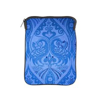 Blue Oriental Peacocks Pattern iPad Sleeve