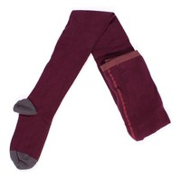 Plain tights bordeaux adult