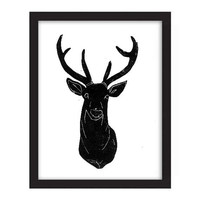 POSTER - 11x14 - Deer Head - Design Trend Decor - Deer Hunter